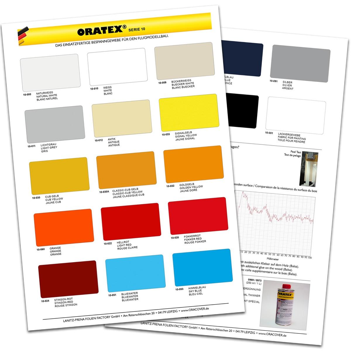 ORATEX Serie 10 - Farbkarte